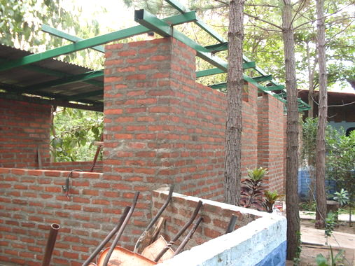 new bakery structure with roof